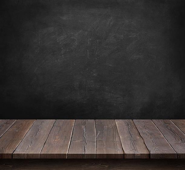 impressive wooden floor with a blackboard room