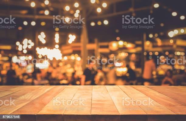 Wood table with blur light bokeh in dark night cafe picture id879637546?b=1&k=6&m=879637546&s=612x612&h=w2wfonu2lsq22zwj5 sv49tfhz1z4pok2x5 8r9vsdm=