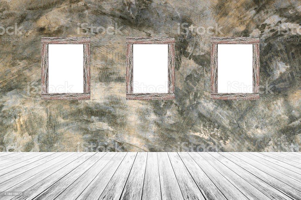 La Terraza De Madera Y Hormigón Expuesto Pulido Con Marco