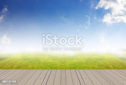 istock wood terrace and sky 465131156