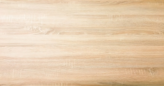 wood texture background, light oak wooden planks pattern table top view