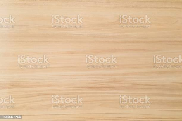 Photo of wood texture background, light weathered rustic oak. faded wooden varnished paint showing woodgrain texture. hardwood washed planks pattern table top view.