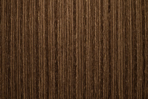 Wood Texture Background Material, Dark Color and Vertical Stripes. stock photo