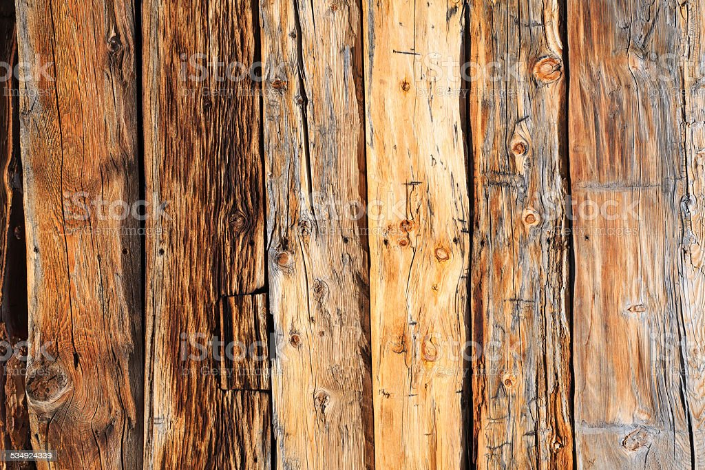 Wood texture background   Pine Wooden wall detail of the facade stock photo