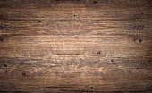 istock Wood texture background. Top view of vintage wooden table with cracks. Brown rustic rough timber for backdrop. 1201918800