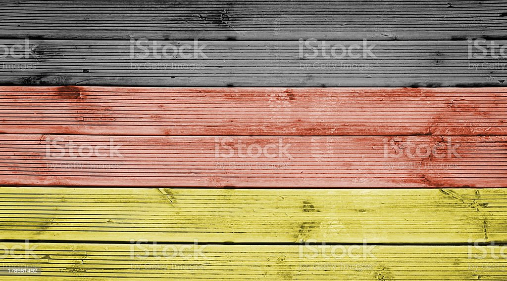 Wood texture background with colors the flag of Germany royalty-free stock photo