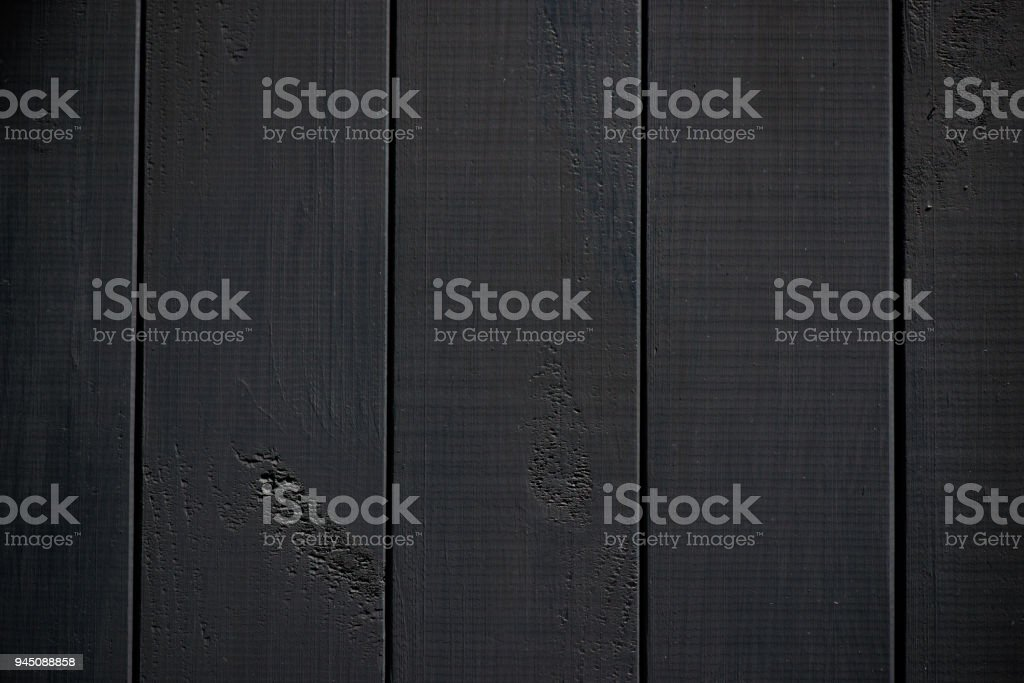 Wood texture. black timber board with weathered crack lines. Natural background for shabby chic design. Black wooden floor image. Aged tree surface close-up backdrop template стоковое фото