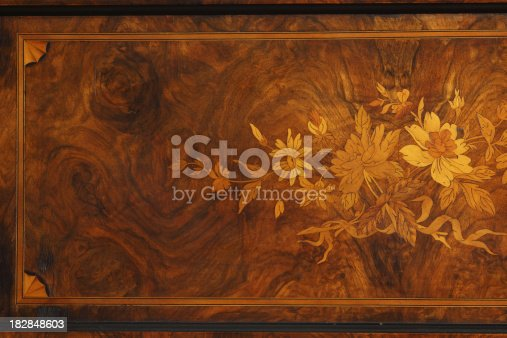 Antique wood texture with rustic intarsia . High resolution polished  woodgrain texture. Close up studio shot .  Very shallow DOF .SEE ALSO: