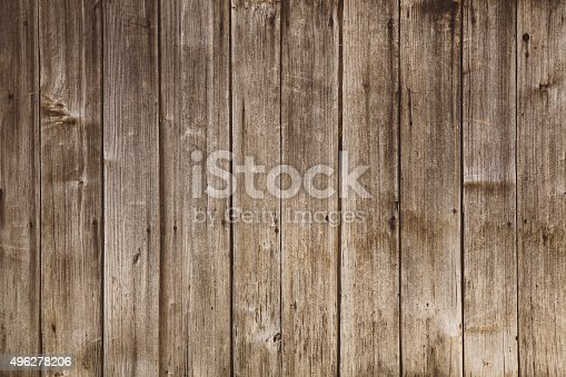 Texture of an old wooden barn door. Vintage toned image, Taken with Canon full frame camera. Image suitable for backgrounds, textures, copy space.