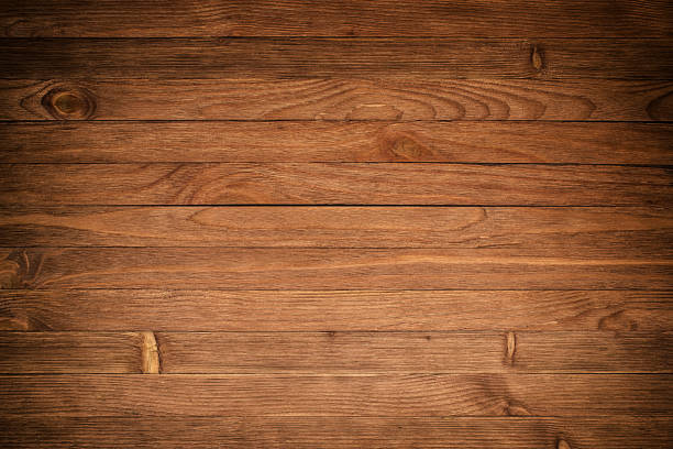 wood texture plank grain background, wooden desk table or floor, old striped timber board - foto stock