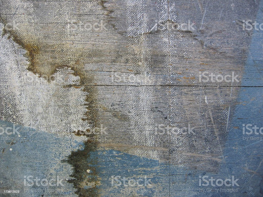Wood Texture with Blue royalty-free stock photo