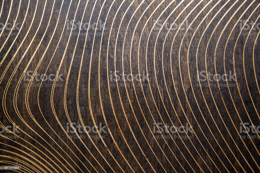 wood texture with lasered pattern stock photo