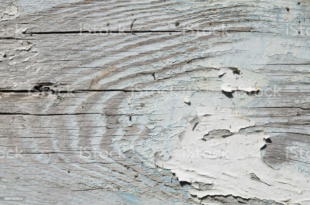 Wood Texture With Old Paint Background Stock Photo   Download Image Now