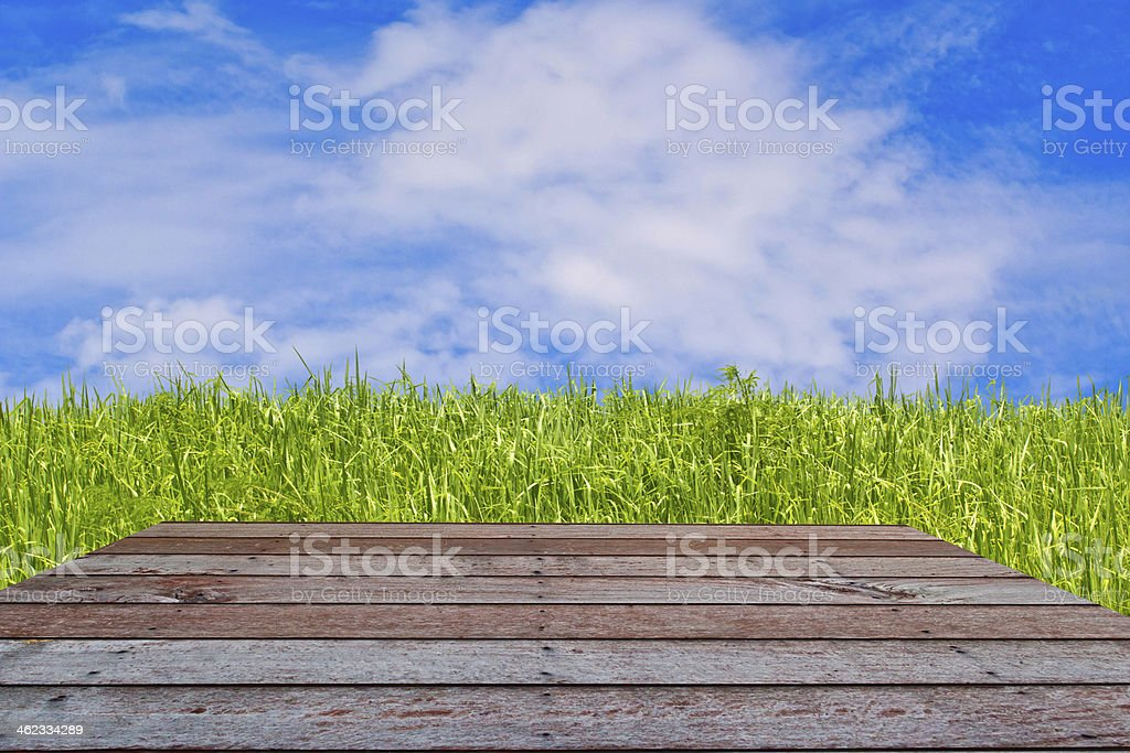 wood textured backgrounds in  room interior stock photo