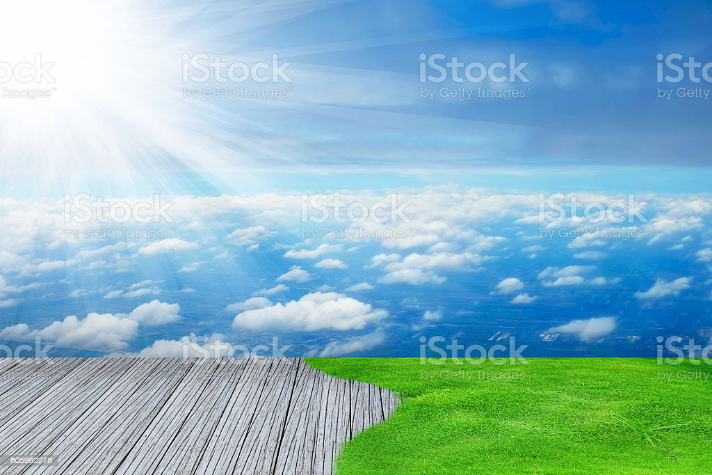 wood textured backgrounds  on the sky backgrounds stock photo