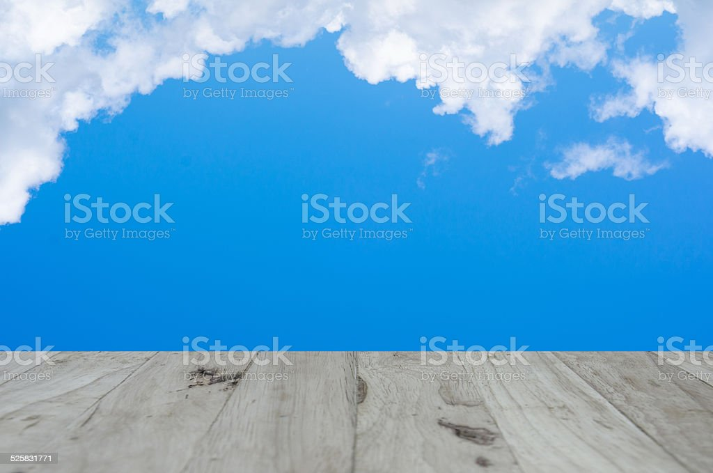 wood textured backgrounds on the sky stock photo
