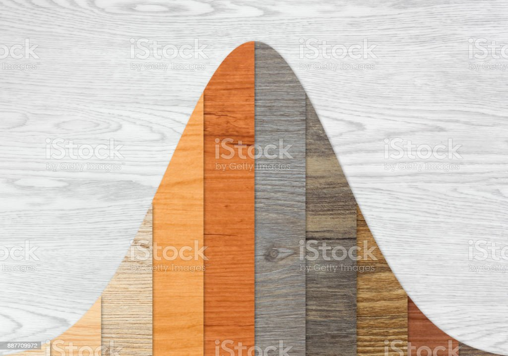 Wood Textured Graph Bars stock photo