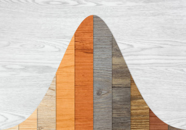wood textured graph bars - bell stock pictures, royalty-free photos & images