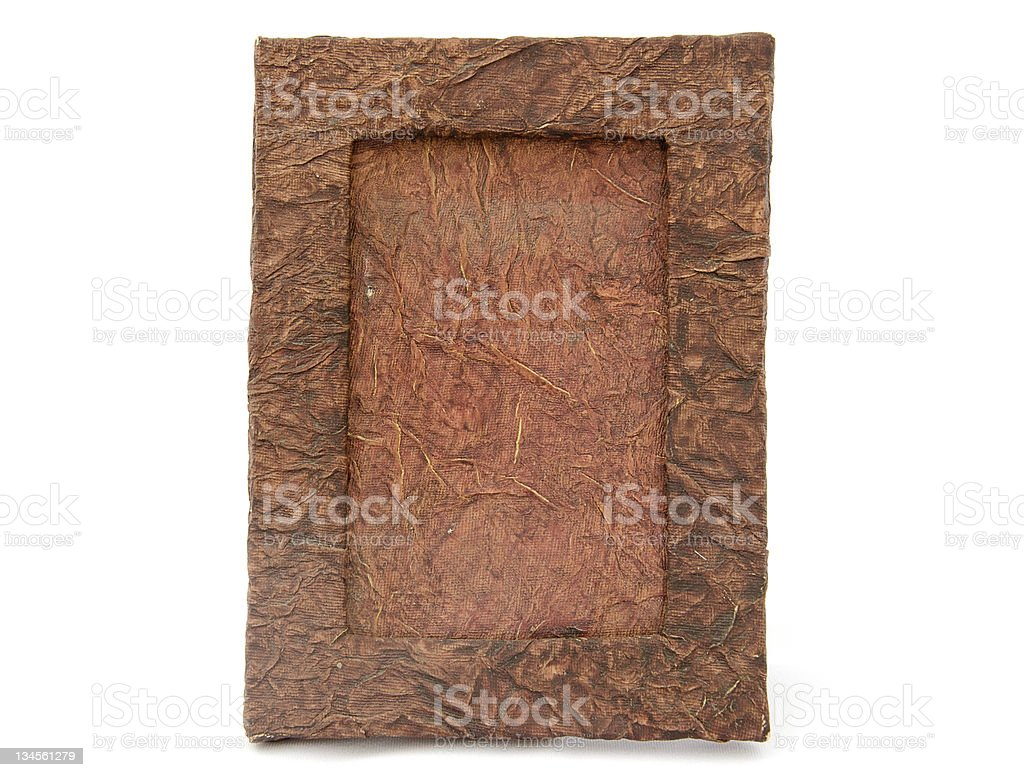 Wood Textured Photo Frame Made From Recycled Materials Stock Photo ...