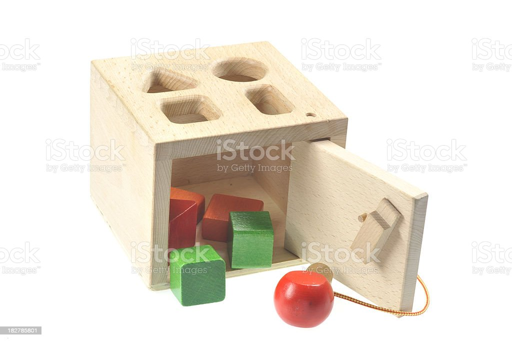 wood toy for preschool childs royalty-free stock photo