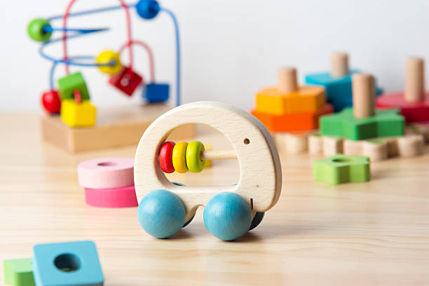 Wood toys stock photo