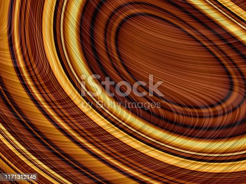 Tree Ring Wood Abstract Brown Gold Yellow Beige Wave Pattern Circle Background Digitally Generated Image Fractal Fine Art