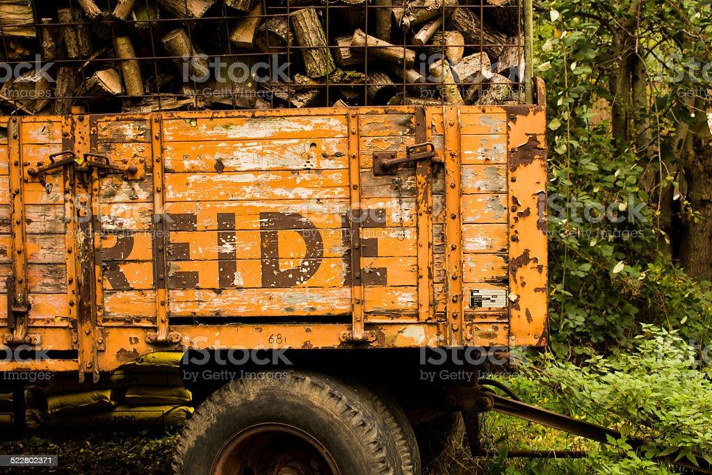 Wood Truck stock photo
