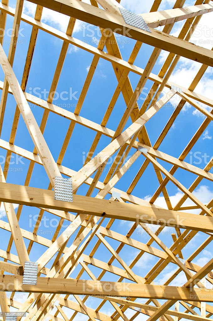 Wood Truss Background stock photo