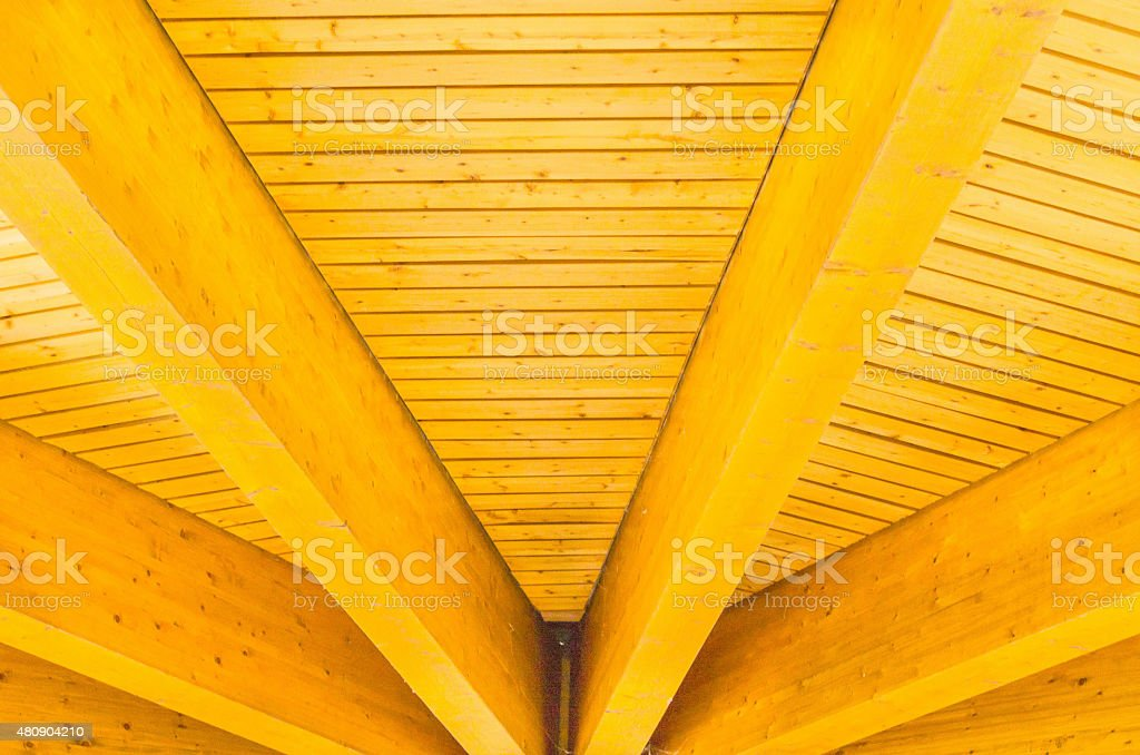Wood truss construction stock photo