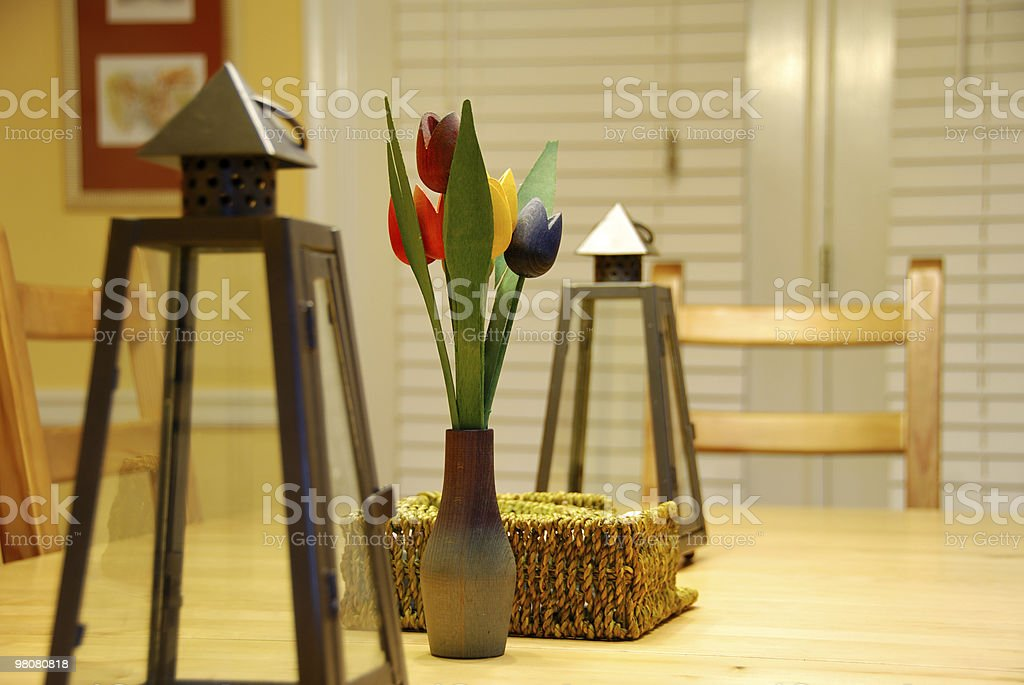 Wood Tulips royalty-free stock photo