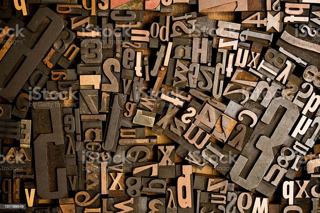 Wood Type Conglomerate royalty-free stock photo
