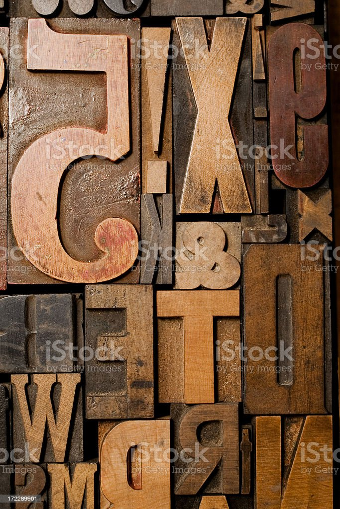 Wood Type Conglomerate stock photo