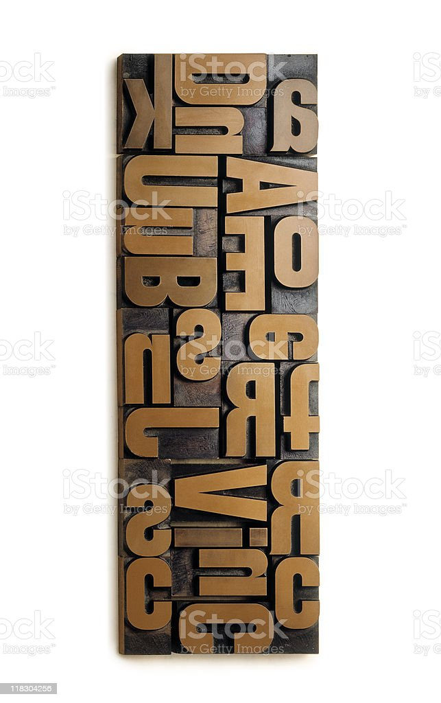 wood typography royalty-free stock photo