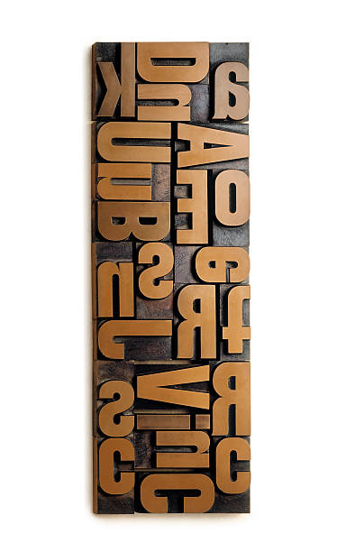wood typography - woodcut stock photos and pictures