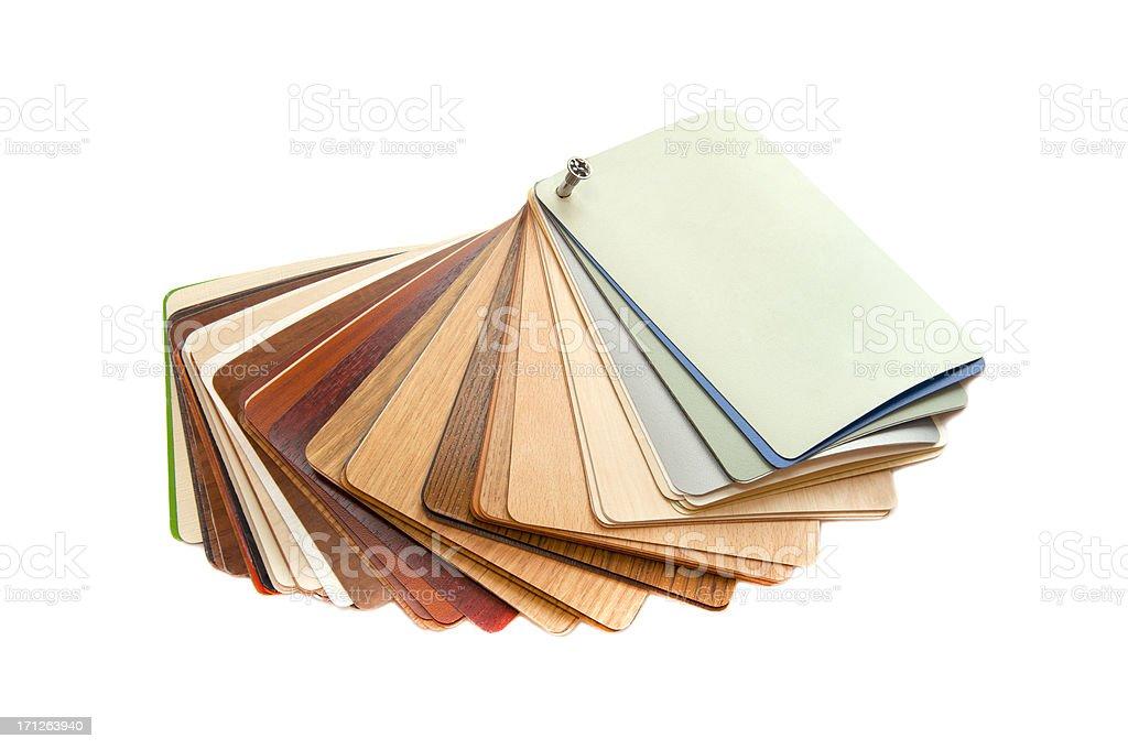 Wood veneer samples stock photo