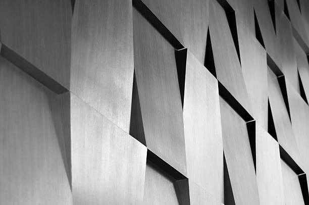 Wood wall geometry decoration Wood wall geometry decoration background monochrome stock pictures, royalty-free photos & images