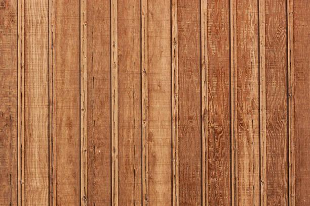 Wood Wall Unpainted stock photo