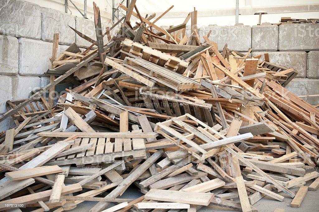 Wood Waste stock photo