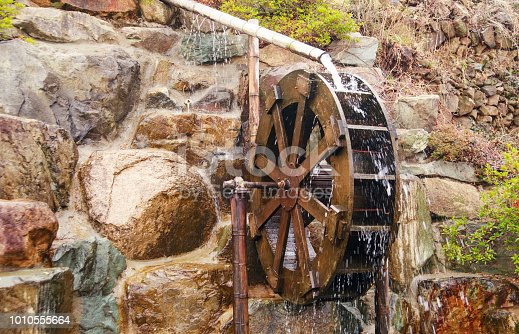 wood water mill