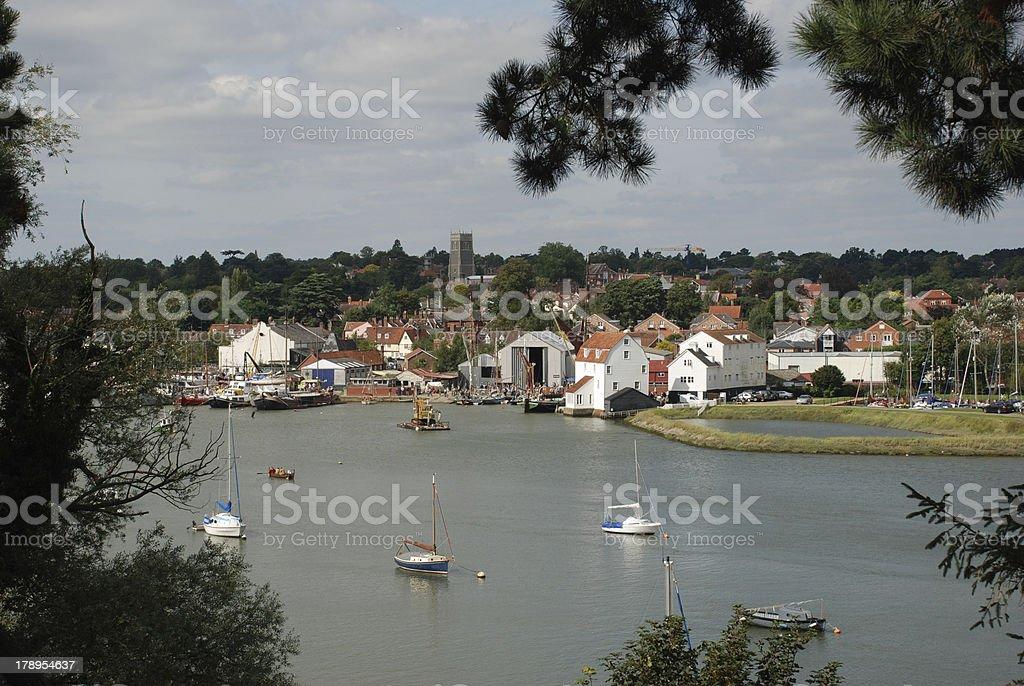 Woodbridge from Across the Deben royalty-free stock photo