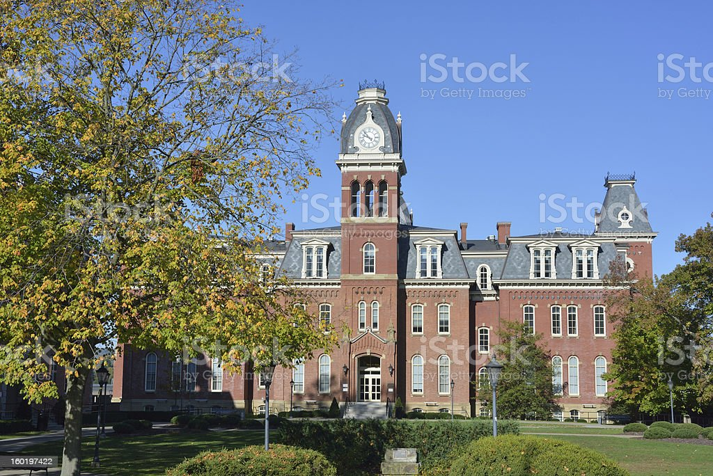 Woodburn Hall in West Virginia University royalty-free stock photo