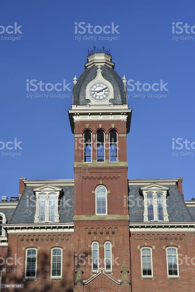Woodburn Hall in West Virginia University stock photo