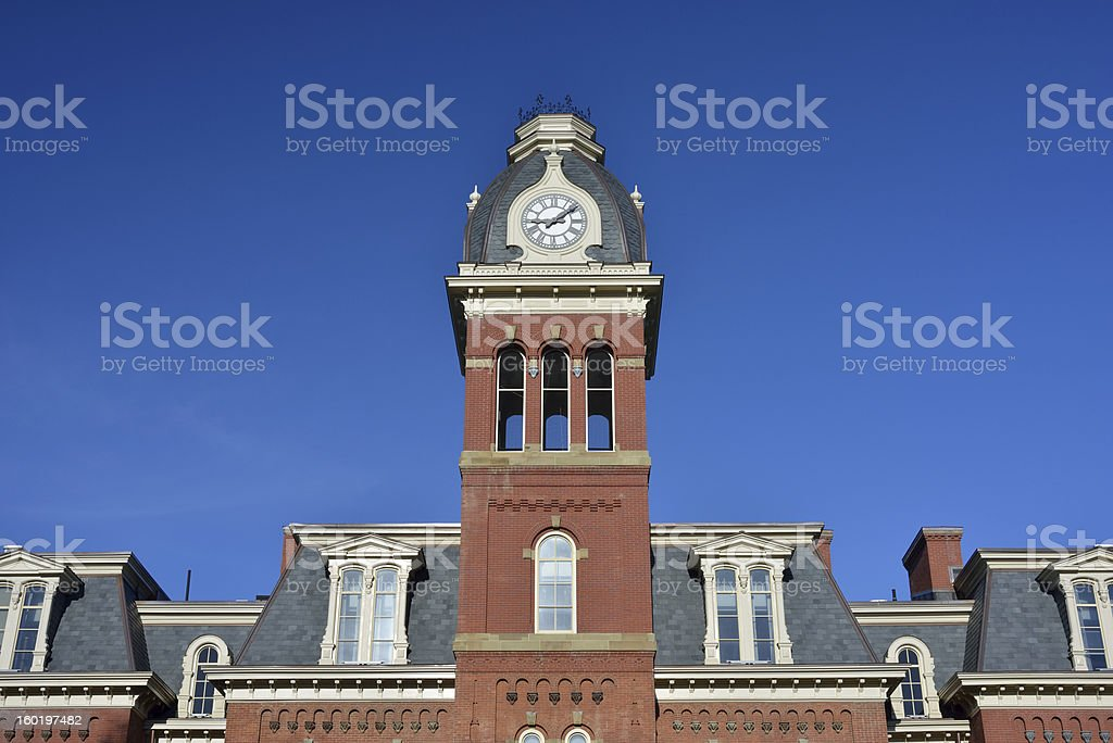 Woodburn Hall in West Virginia University stock photo