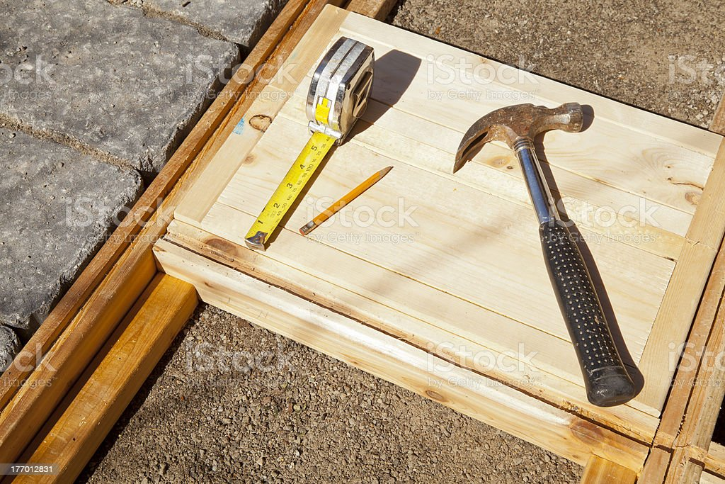 Wood-construction Detail stock photo