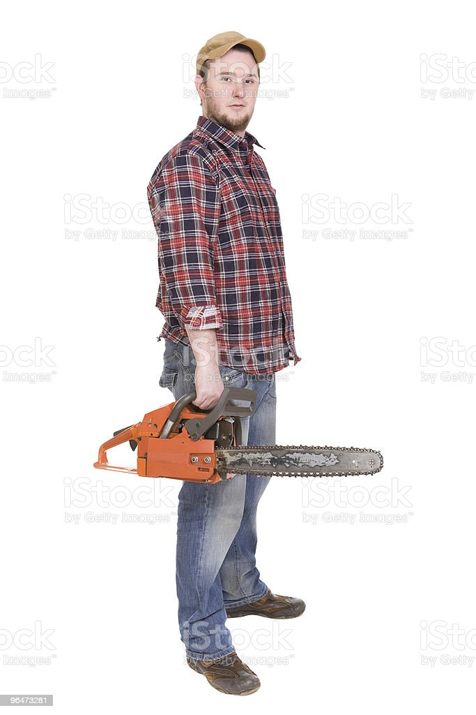 woodcutter royalty-free stock photo
