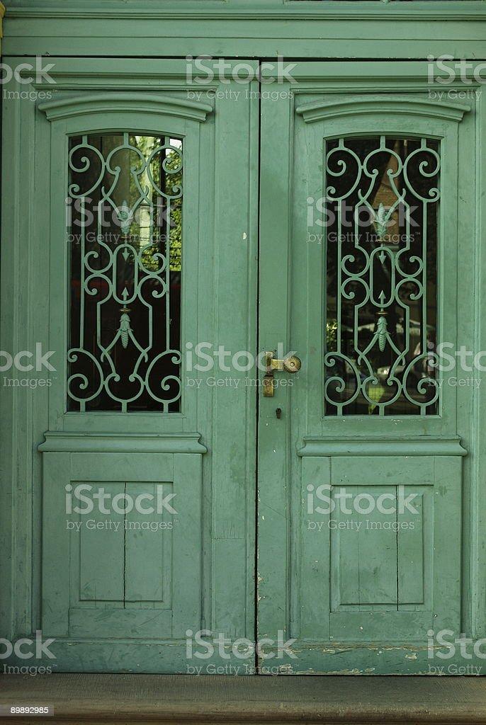 Wooddoor royalty-free stock photo