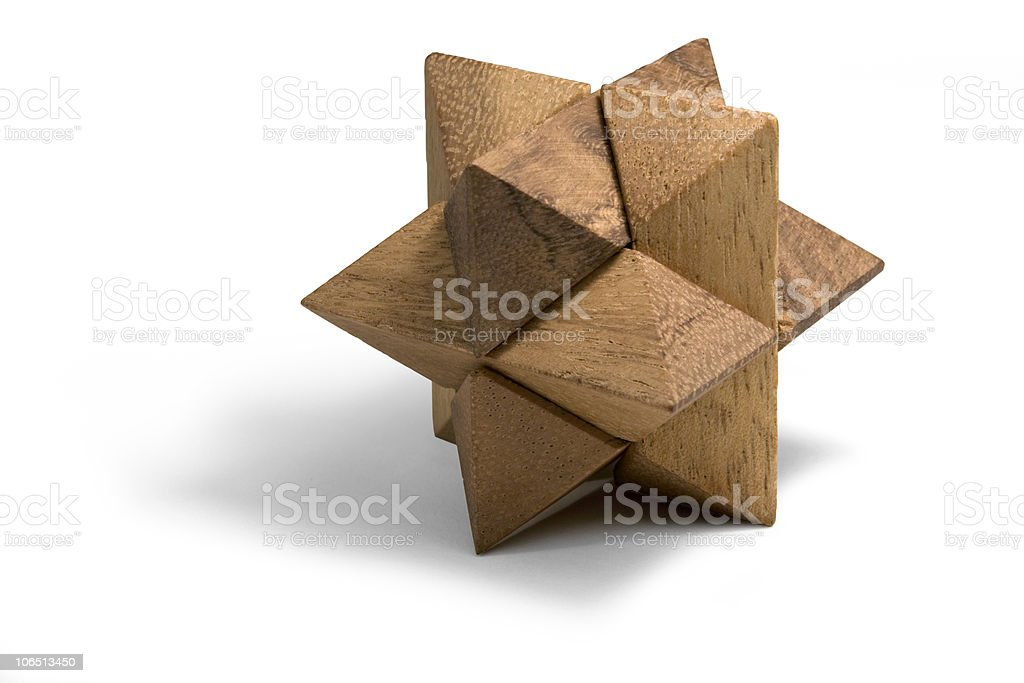 wooden 3D puzzle royalty-free stock photo