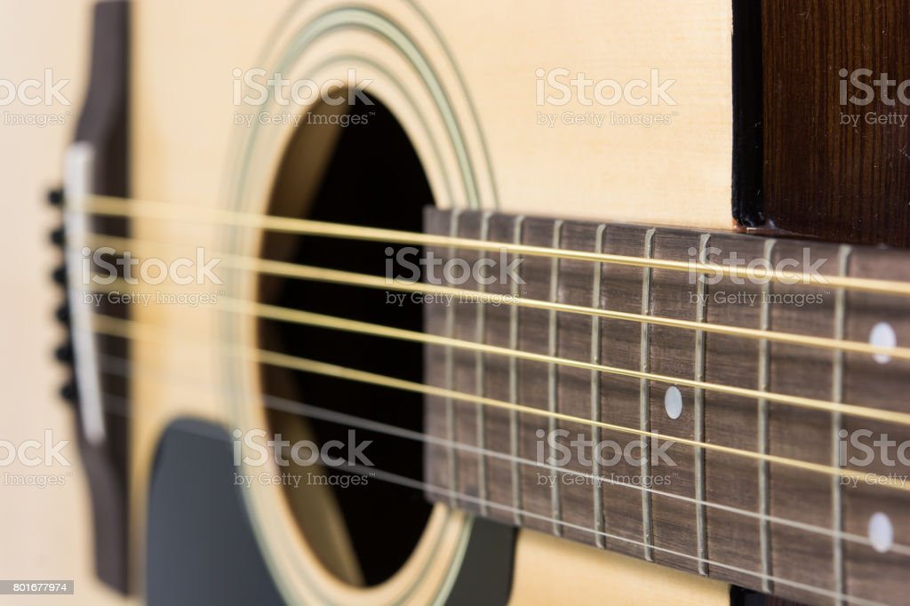 wooden a classic guitar stock photo