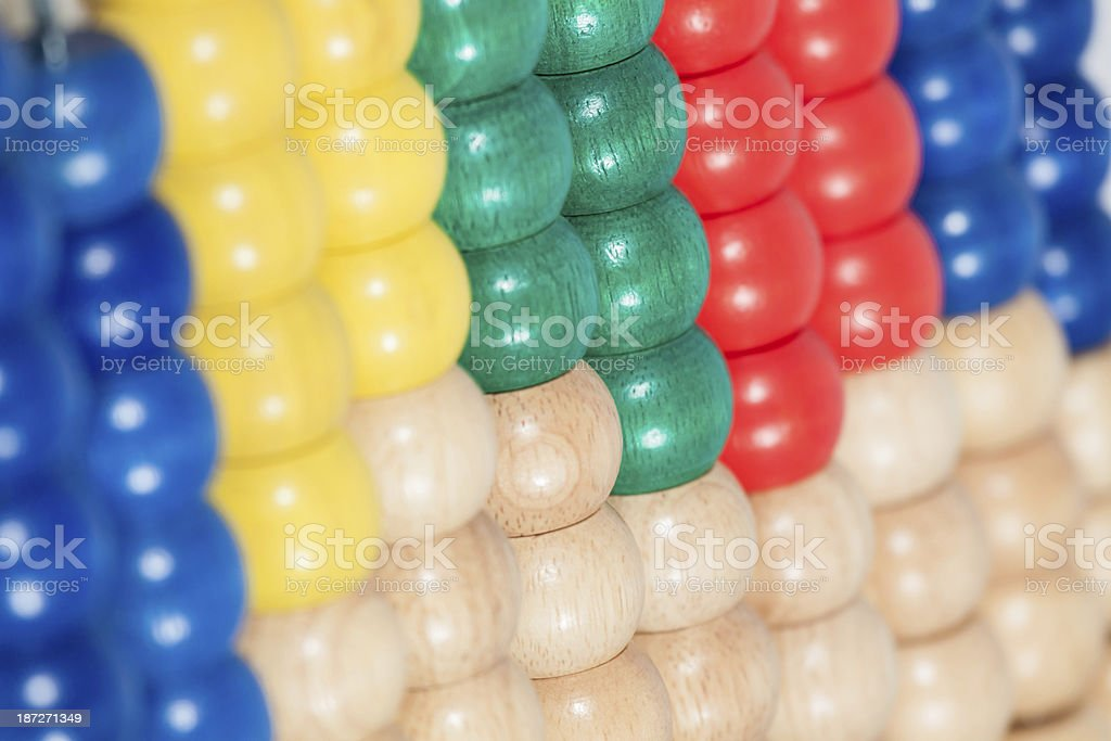 wooden abacus stock photo