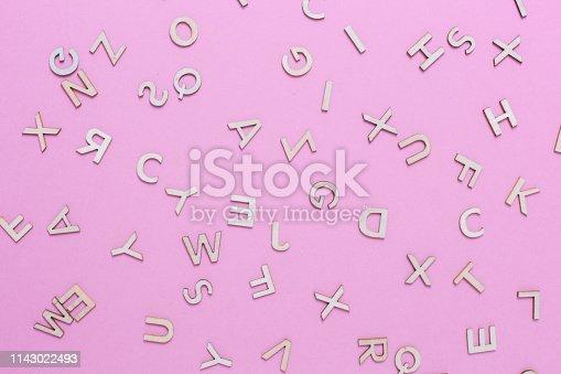 613303142 istock photo Wooden ABC alphabet letters 1143022493
